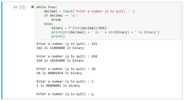python input loop int str