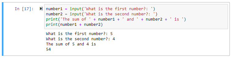 python input number as string