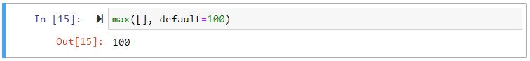 max() empty list