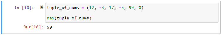 max function on tuple