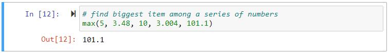 max series of numbers