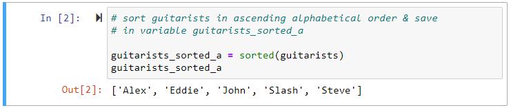 python sorted ascending alphabetical