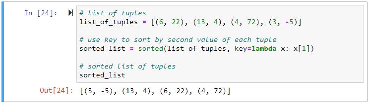 sorted key lambda function