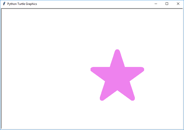 Draw color filled Star in Python Turtle