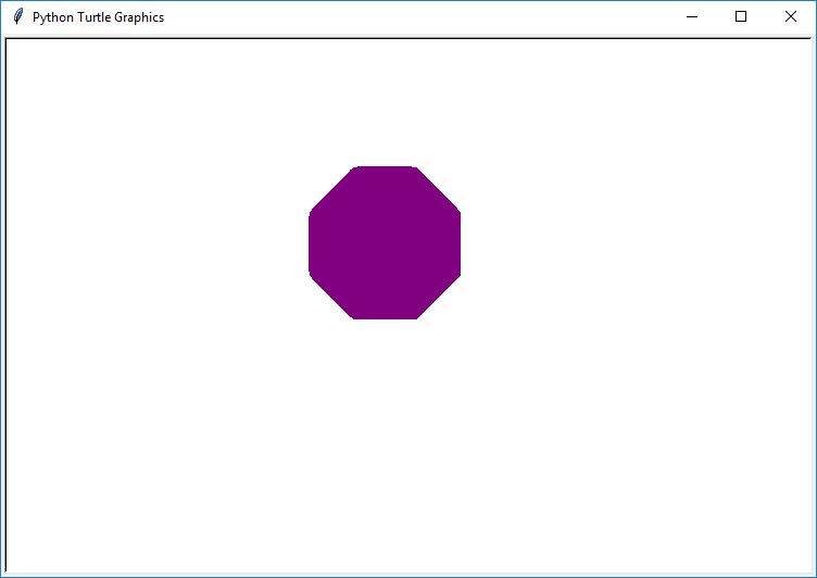 Draw color filled octagon in Python Turtle