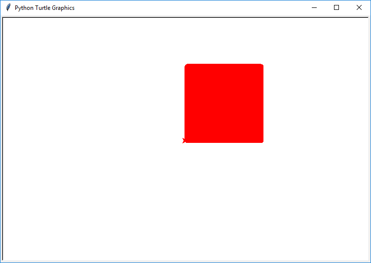 Draw color filled square in Python Turtle