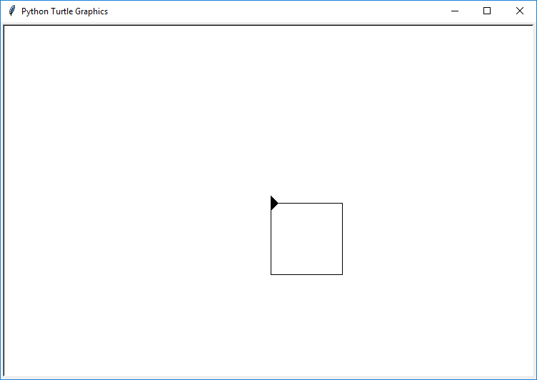 draw square using function turtle