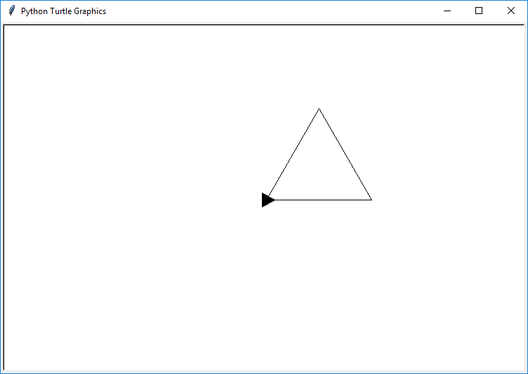 draw triangle python turtle