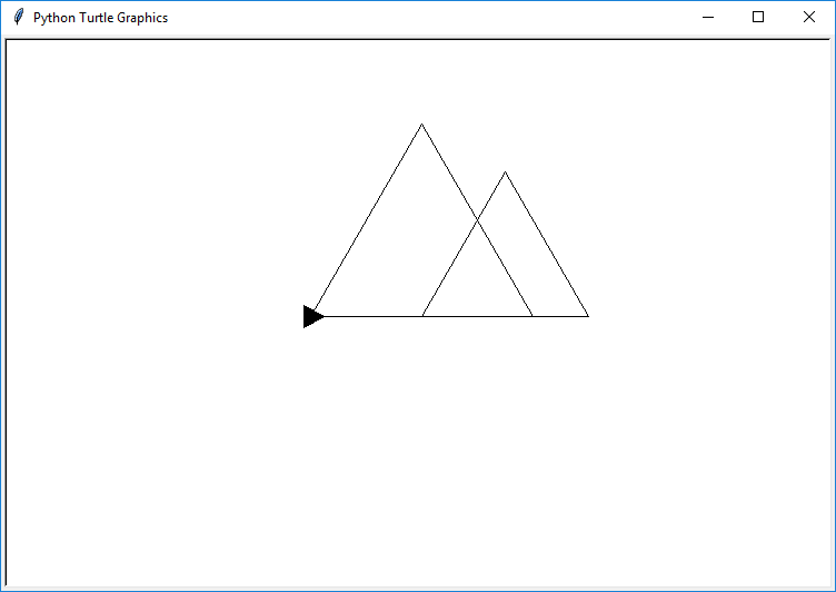 drawing two triangles