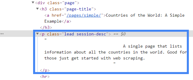 html with whitespace and newlines