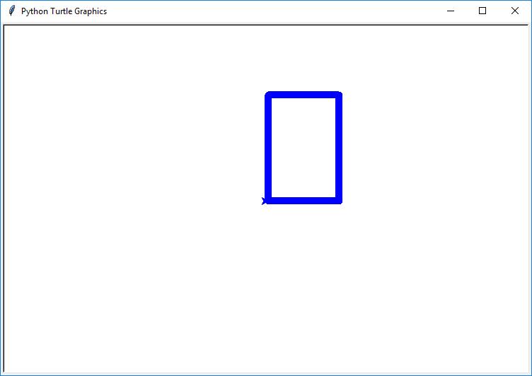 python turtle draw rectangle