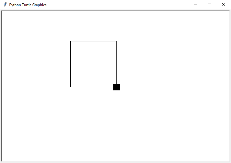 python turtle loop to draw square