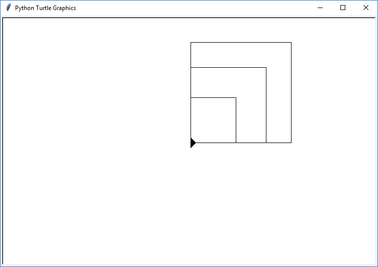 turtle variable squares
