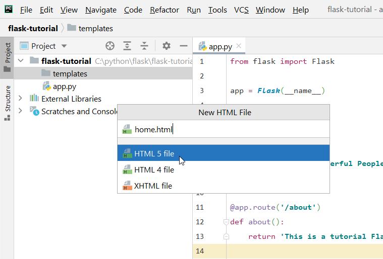 HTML file inside templates folder