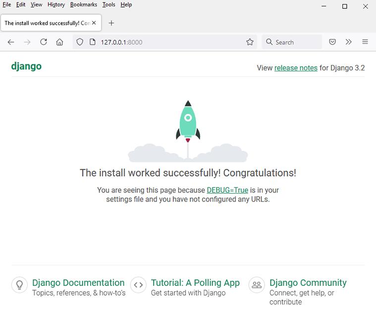 django running development server