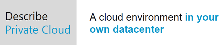 private cloud concept